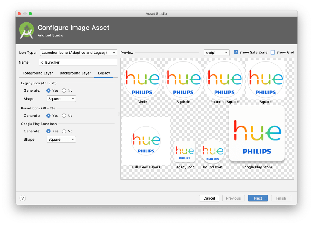 Create image asset