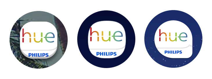 Badly resized Philips Hue icons