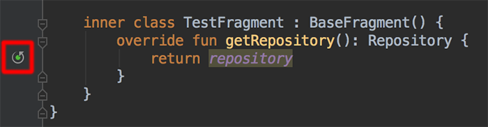 Android Studio recursive function indicator
