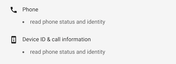 Google play store permissions